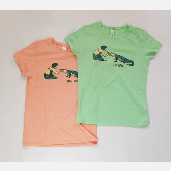 Luise Pop | T-Shirt | Girls Cut | Mint/Pink/Turquoise